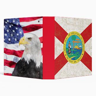 FLORIDA FLAG AGED/AMERICAN FLAG & EAGLE BINDER