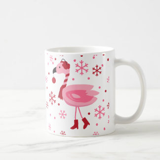 Florida Flamingo Tropical Beach Christmas Holiday Coffee Mug