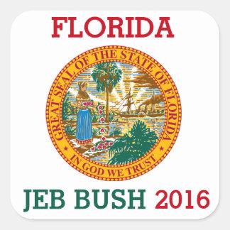 Florida for Jeb Bush 2016 Square Sticker