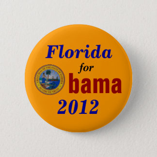 Florida for Obama 2012 2 Inch Round Button
