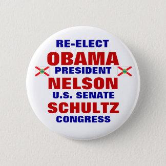 Florida for Obama Nelson Schultz 2 Inch Round Button