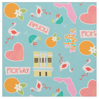Florida Fun Pattern Fabric
