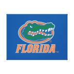 Florida Gator Head - Orange & White Stretched Canvas Print