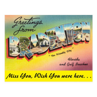 Florida, Greetings from Bradenton Postcard