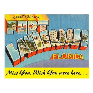 Florida, Greetings from Fort Lauderdale Postcard