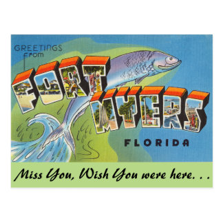 Florida, Greetings from Fort Myers Postcard