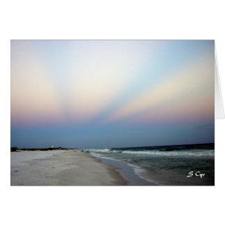 Florida Gulf Coast Sunset Card