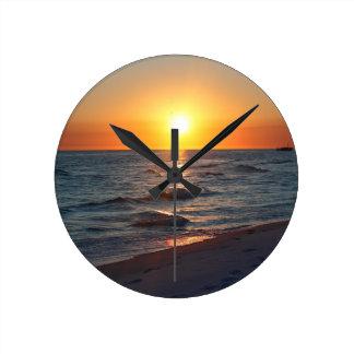 Florida gulf coast sunset clocks
