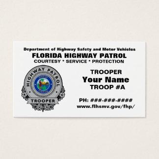 Florida Highway Patrol FHP Business Card