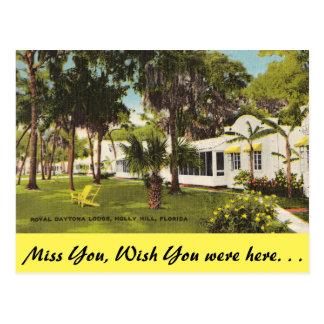 Florida, Holly Hill, Royal Daytona Lodge Postcard