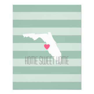 Florida Home State Love with Custom Heart Flyers