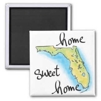 Florida Home Sweet Home Square Magnet