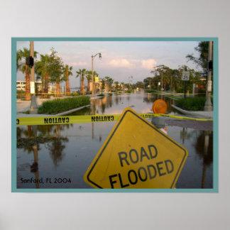 Florida Hurricane Damage Poster