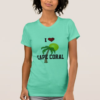Florida: I Love Cape Coral palm tree and sun T-Shirt