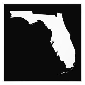 Florida in White and Black Photo