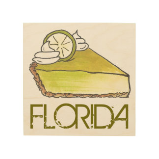Florida Key Lime Pie Slice Dessert Foodie Gift Art