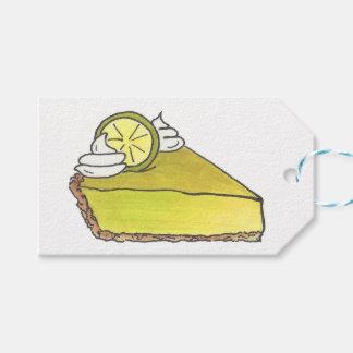 Florida Key Lime Pie Slice Dessert Foodie Gift Tag