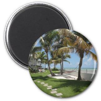 Florida Keys American Beach - ReasonerStore 2 Inch Round Magnet