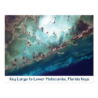 Florida Keys from Space Postcard