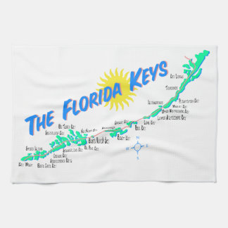 Florida Keys Map Kitchen Towel