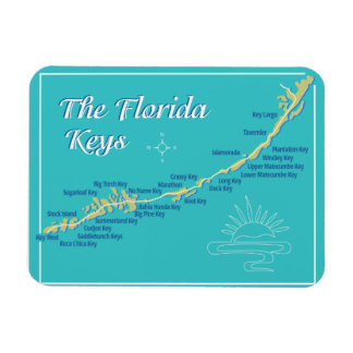 Florida Keys Map Magnet