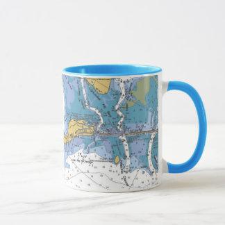 Florida Keys, Matecumbe Key Nautical Chart Mug