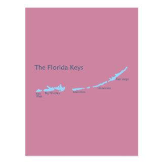 Florida Keys. Postcard