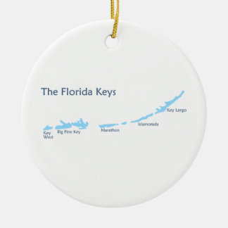 Florida Keys. Round Ceramic Ornament