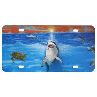 Florida Keys Shark License Plate