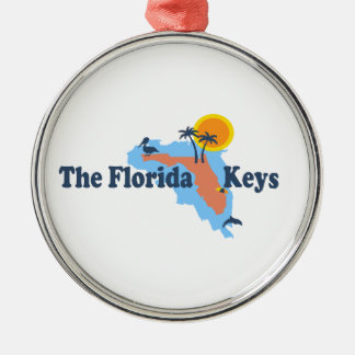 Florida Keys. Silver-Colored Round Ornament