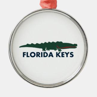 Florida Keys. Silver-Colored Round Ornament