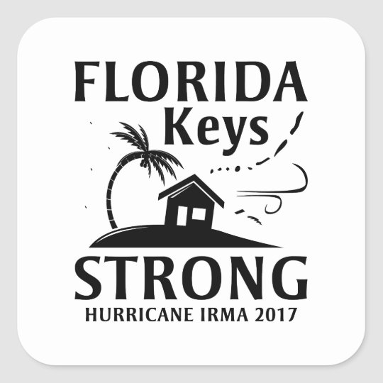 Florida Keys Strong Square Sticker