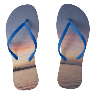 Florida Keys sunset flip flops