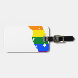 Florida LGBT Flag Map Luggage Tag