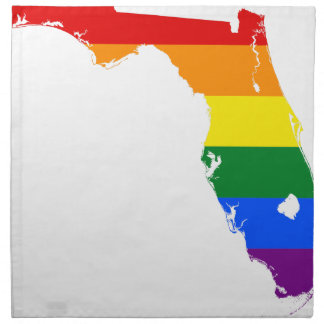 Florida LGBT Flag Map Napkin