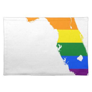 Florida LGBT Flag Map Placemat