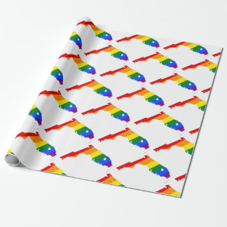 Florida LGBT Flag Map Wrapping Paper