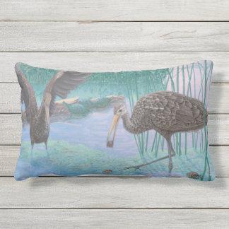 Florida Limpkins And Apple Snails Lumbar Pillow