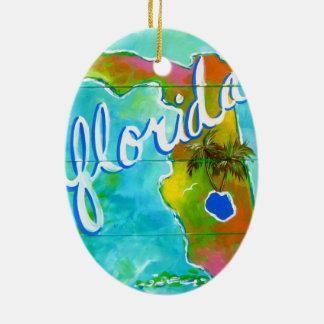 Florida Logo Ceramic Oval Ornament
