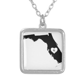 Florida Love Silver Plated Necklace