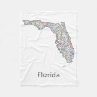 Florida map fleece blanket