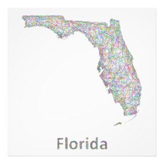 Florida map photographic print