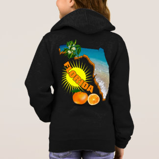 Florida Map Sunny Oranges Summer Graphic Hoodie