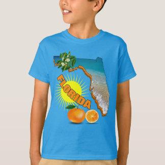 Florida Map Sunny Oranges Summer Graphic T-Shirt