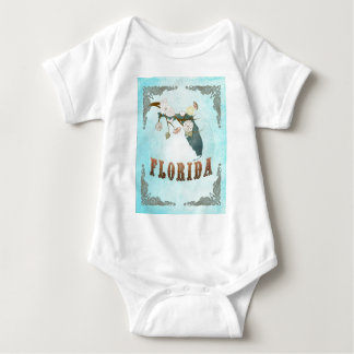 Florida Map With Lovely Birds T Shirts