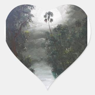 Florida Misty RIver Moss Heart Sticker