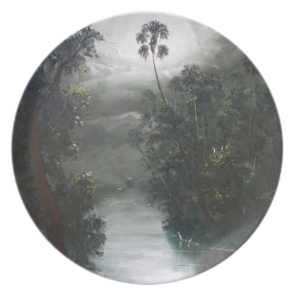 Florida Misty RIver Moss Party Plates