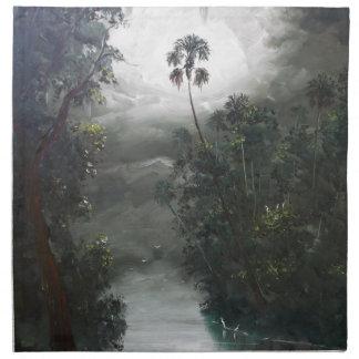 Florida Misty RIver Moss Printed Napkin