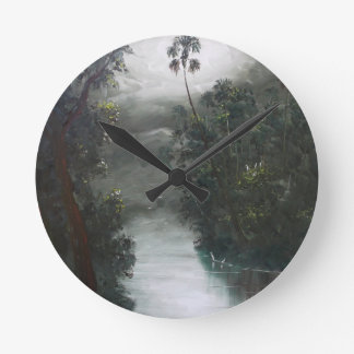 Florida Misty RIver Moss Wall Clocks