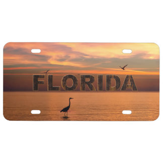 Florida Ocean View at Sunset License Plate